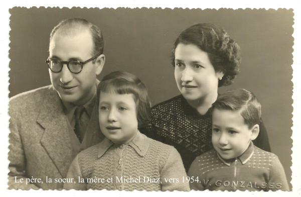 Michel Diaz et sa famille vers 1954