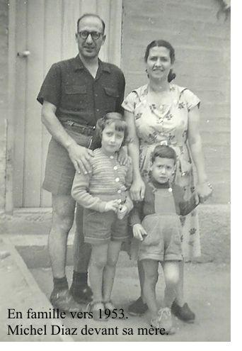 Michel Diaz ses parents et soeur vers 1953